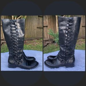 "BORN Tall Leather ""Estelle"" Riding Boots. EUC."